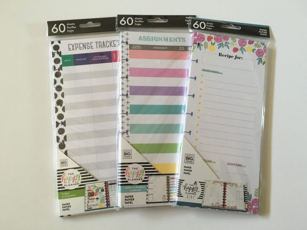 favorite happy planner inserts half sheet functional rainbow classic size