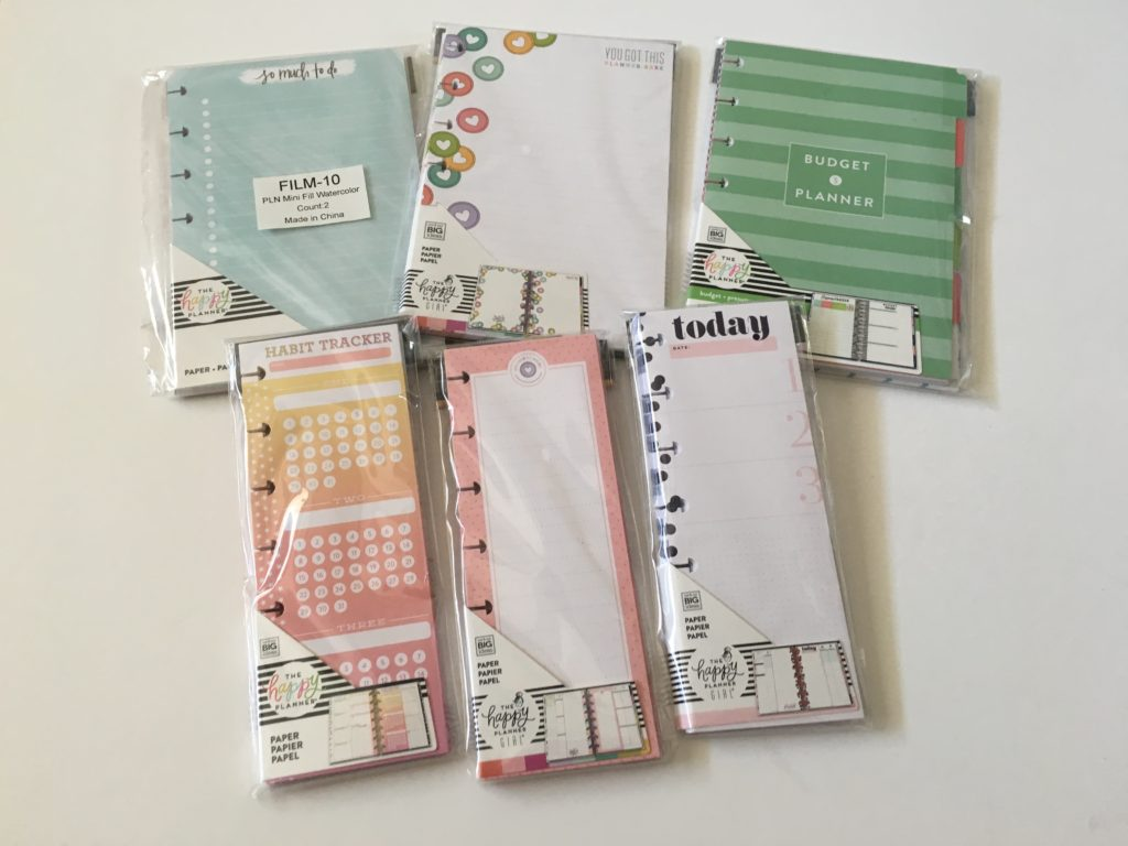 favorite mini happy planner inserts half sheet budgeting checklist habit tracker lined checklists planner babe rainbow