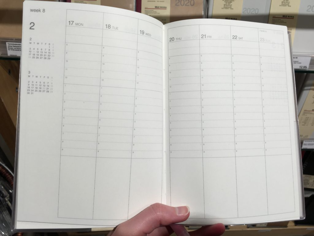 frankfurt muji store weekly planners best stationery shops in germany vertical 2 page weekly spread