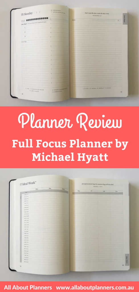 full focus planner review undated 2 page daily spread weekly preview monthly calendar goal setting productivity quarterly video