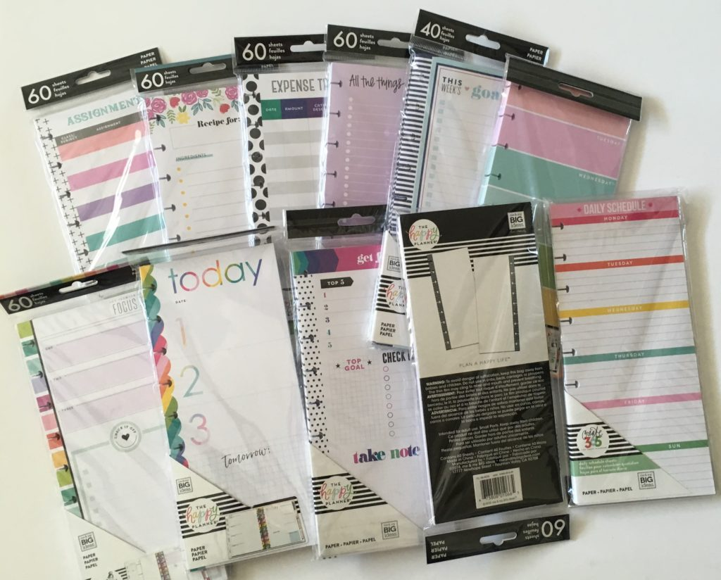 Favorite Happy Planner Refill Inserts