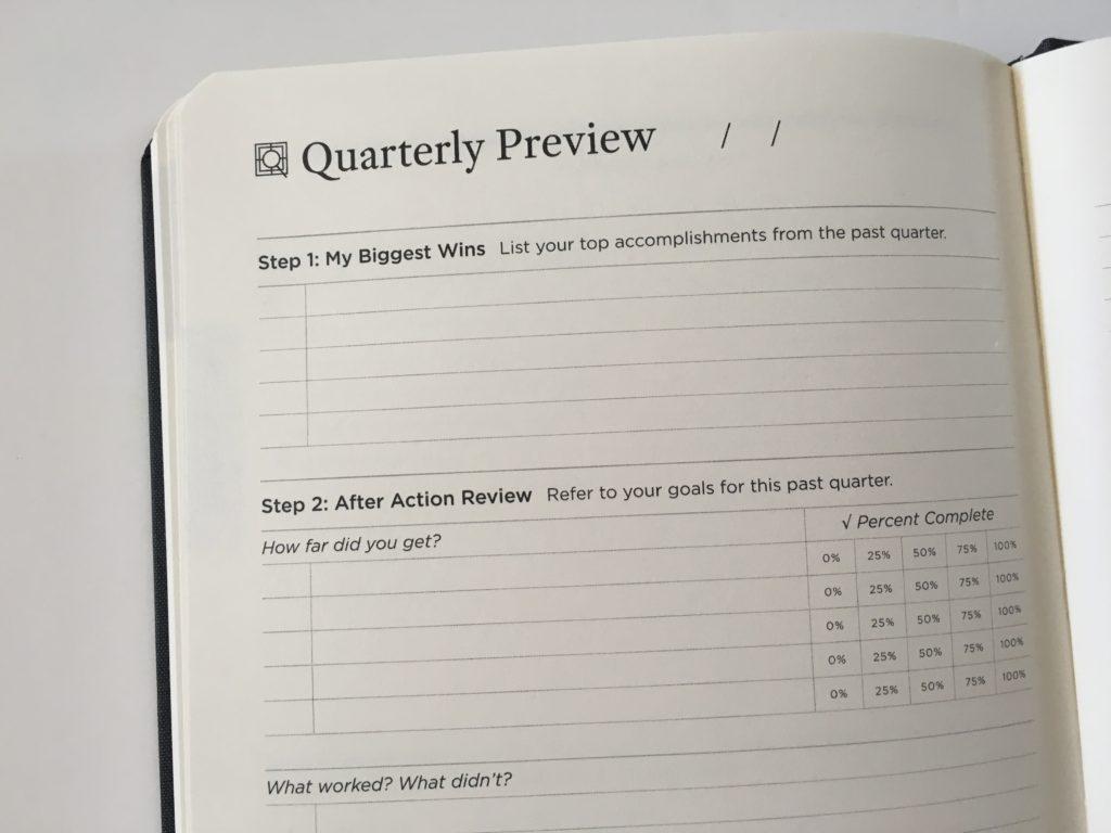 michael hyatt quarterly preview 90 day undated goal planner