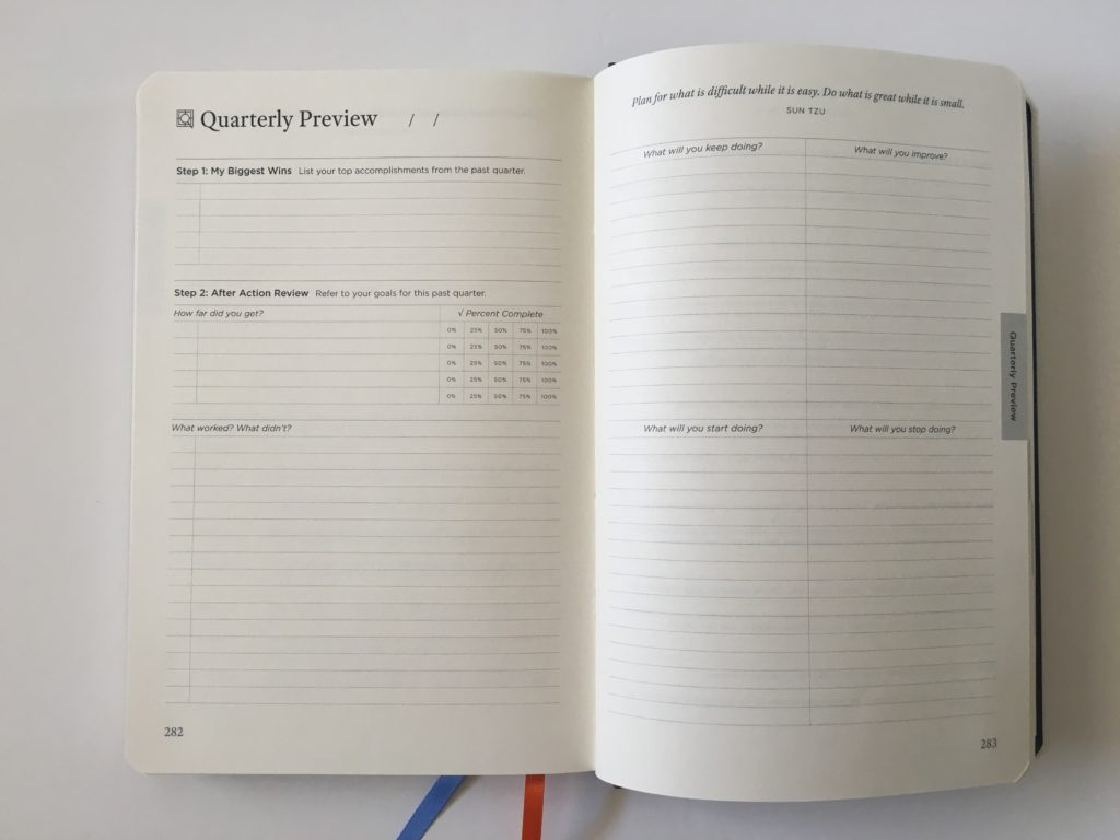 michael hyatt quarterly preview 90 day undated goal planner reflection