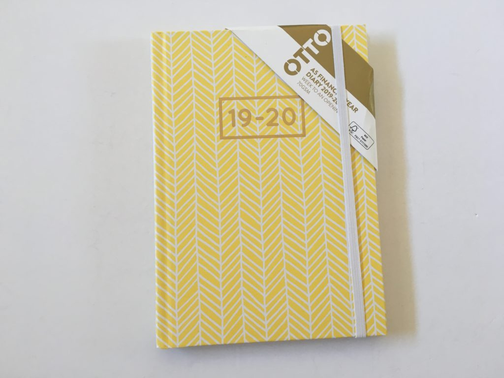 officeworks otto diary weekly planner horizontal monday week start lined minimalist cheap affordable simple layout aussie planner