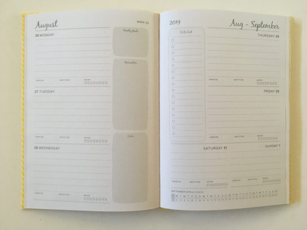 otto 2 page weekly spread monday start simple minimalist a5 page size lined writing space