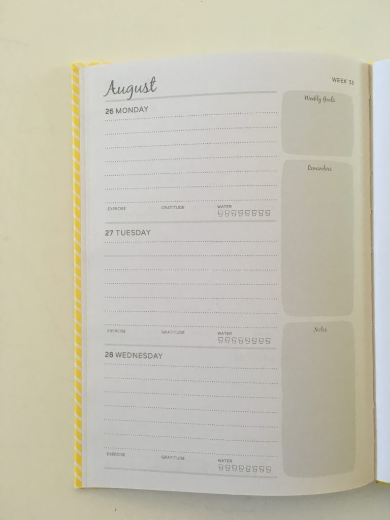 otto 2 page weekly spread monday start simple minimalist a5 page size lined writing space 12 month planner