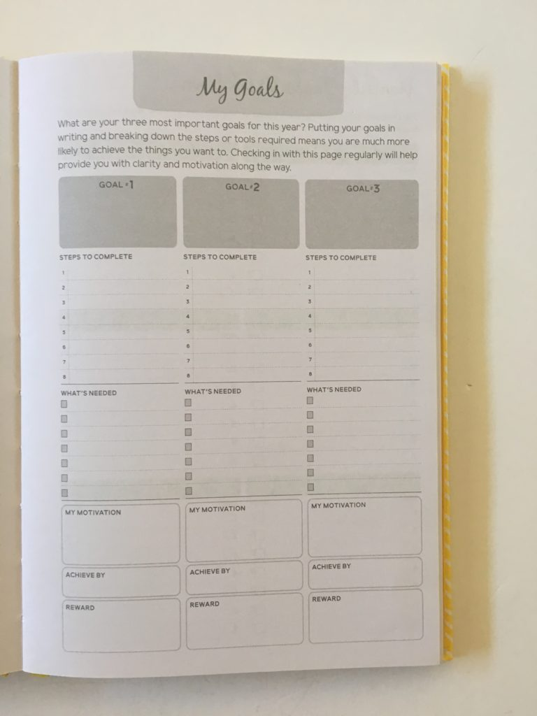otto goal planning weekly horizontal 2 page spread minimalist cheap affordable a5 page size