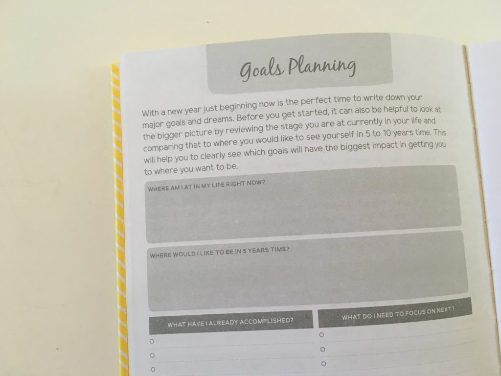 otto goals planner weekly 2 page horizontal spread review australia