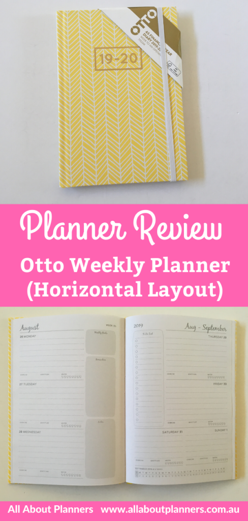 otto weekly planner review hardcover 2 page horizontal weekly spread monday start lined