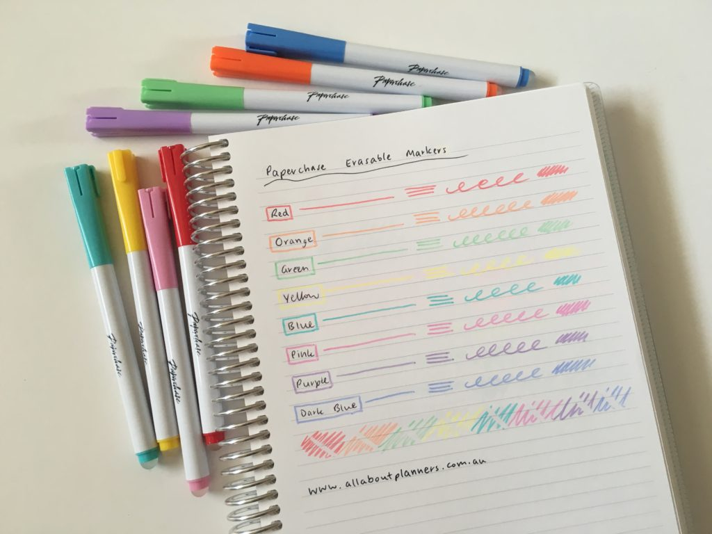 paperchase erasable highlighters pen testing swatches pros and cons cheaper alternative to fricion erasable europe