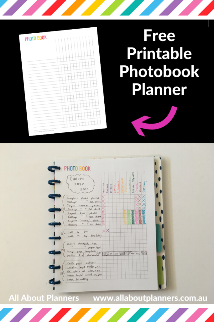 photobook workflow printable free download editable pdf template color coded blurb scrapbooking checklist steps process organize