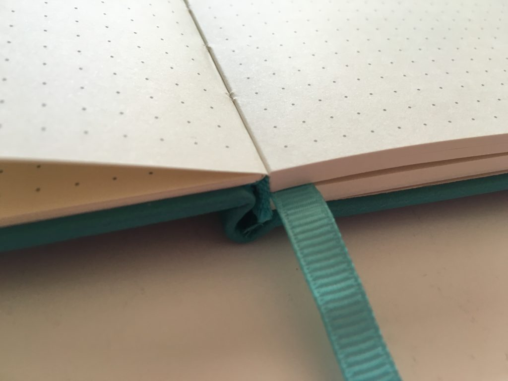 poluma dot grid notebook lay flat binding 5mm spacing ivory paper ribbon bookmark cheap affordable