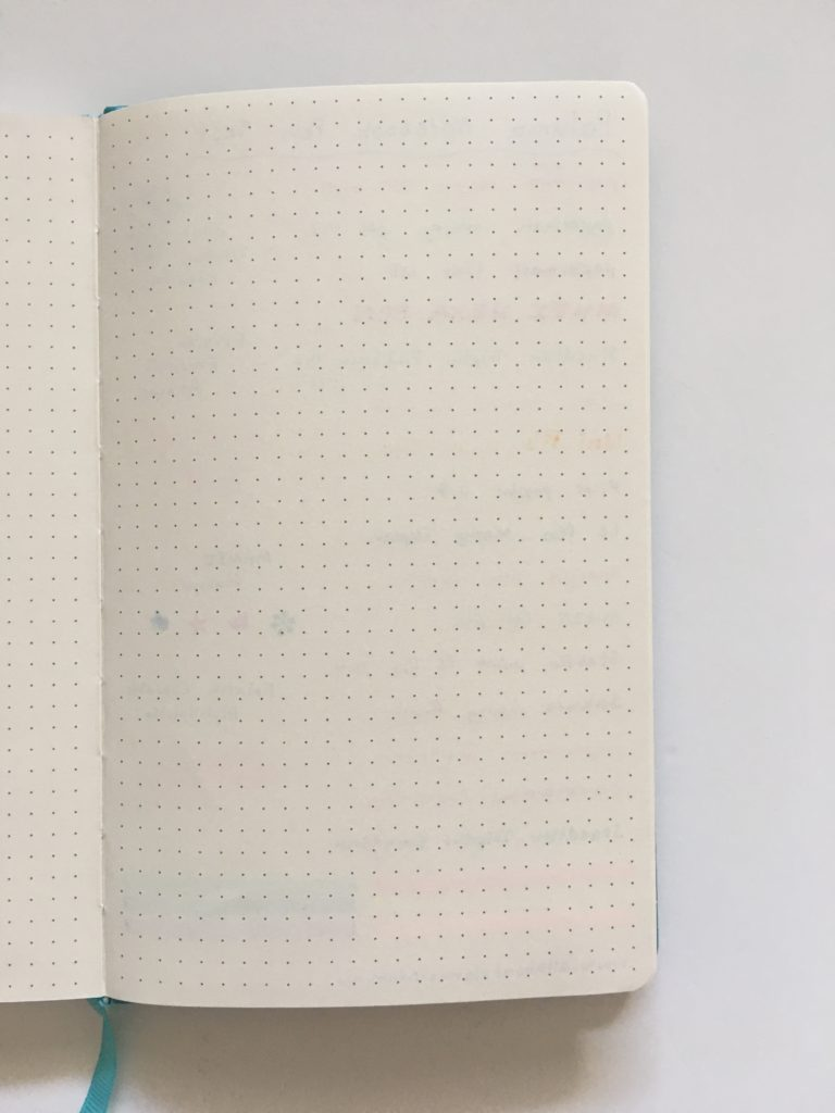 poluma dot grid notebook pen testing ghosting bleed through paper quality a5 page size