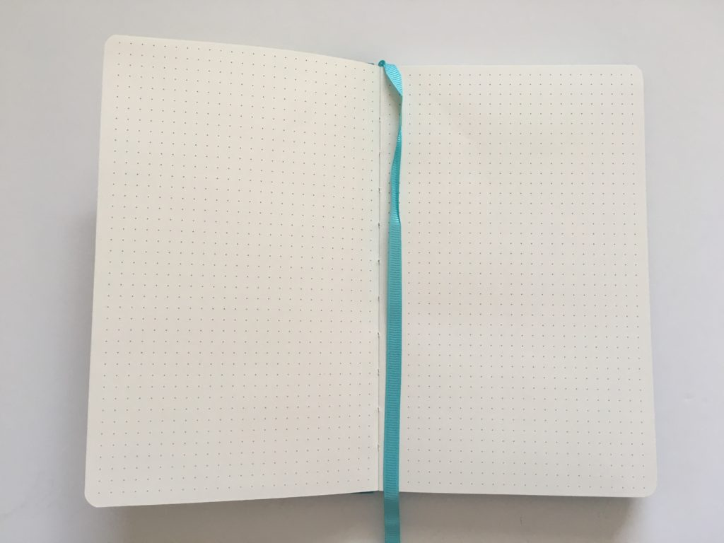 poluma dot grid notebook review bullet journal bujo 5mm dot grid spacing blue cover cheap affordable organizer factory lay flat