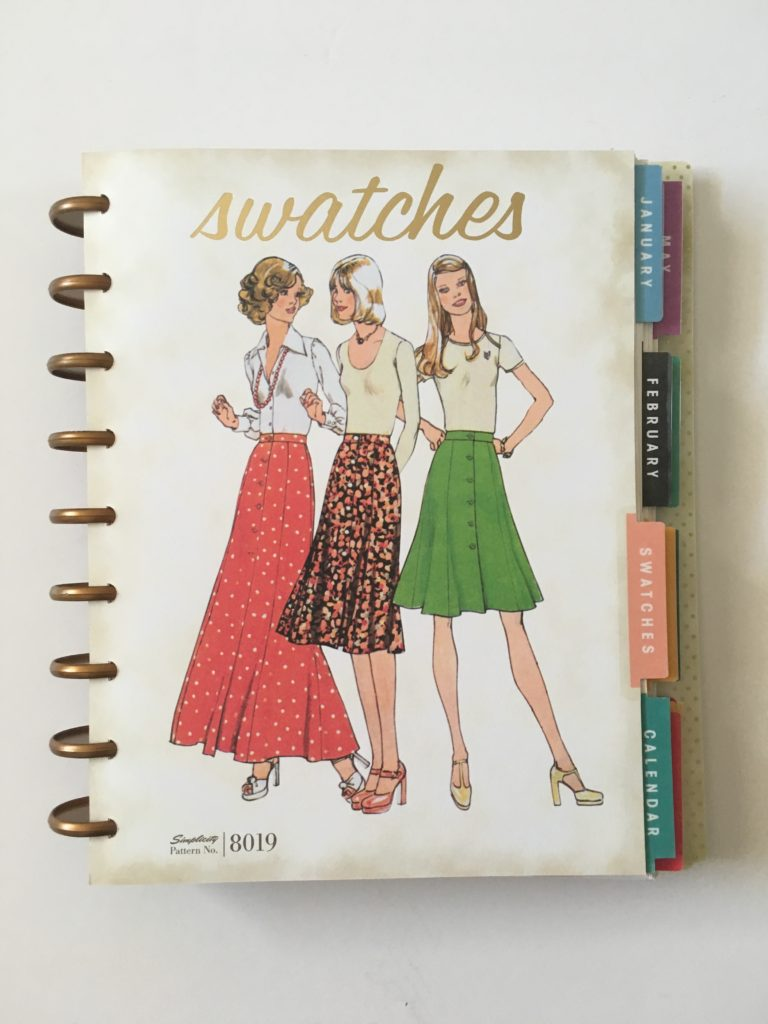 simplicity discbound planner review vintage fashion patchwork quilting sewing