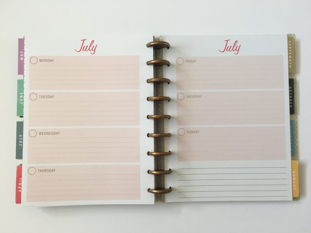 simplicity horizontal weekly planner review monday start undated video flipthrough