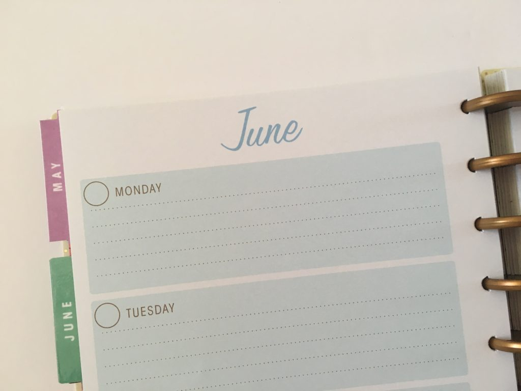 simplicity horizontal weekly planner review monday start undated video flipthrough lined simple layout
