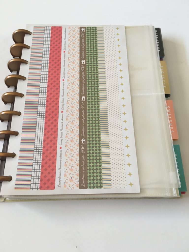 simplicity planner review washi tape