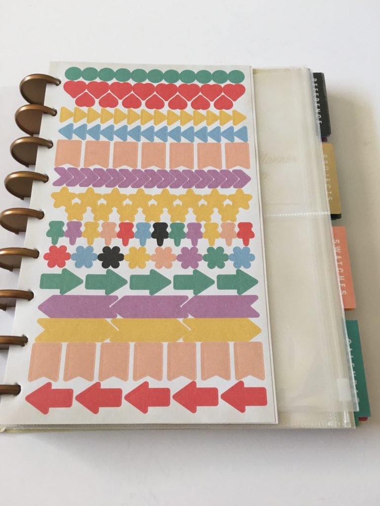 simplicity planner review washi tape functional rainbow stickers icon