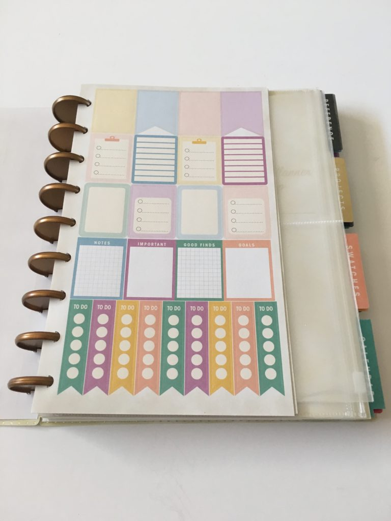 simplicity planner review washi tape functional rainbow stickers list boxes