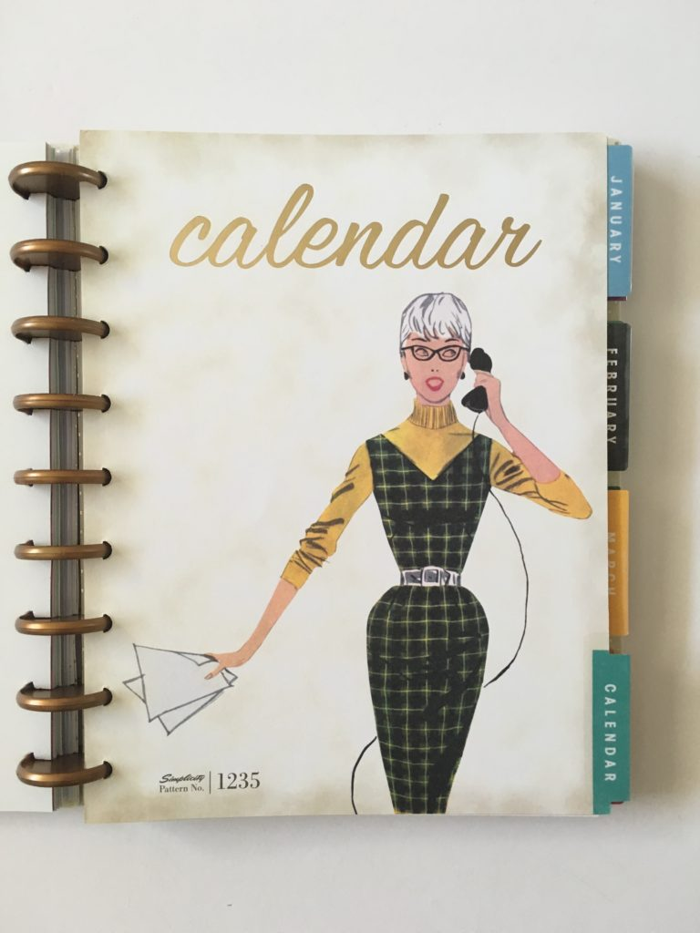 simplicity undated weekly planner review vintage fashion inspired discbound monday start horizontal lined monthly divider page handdrawn