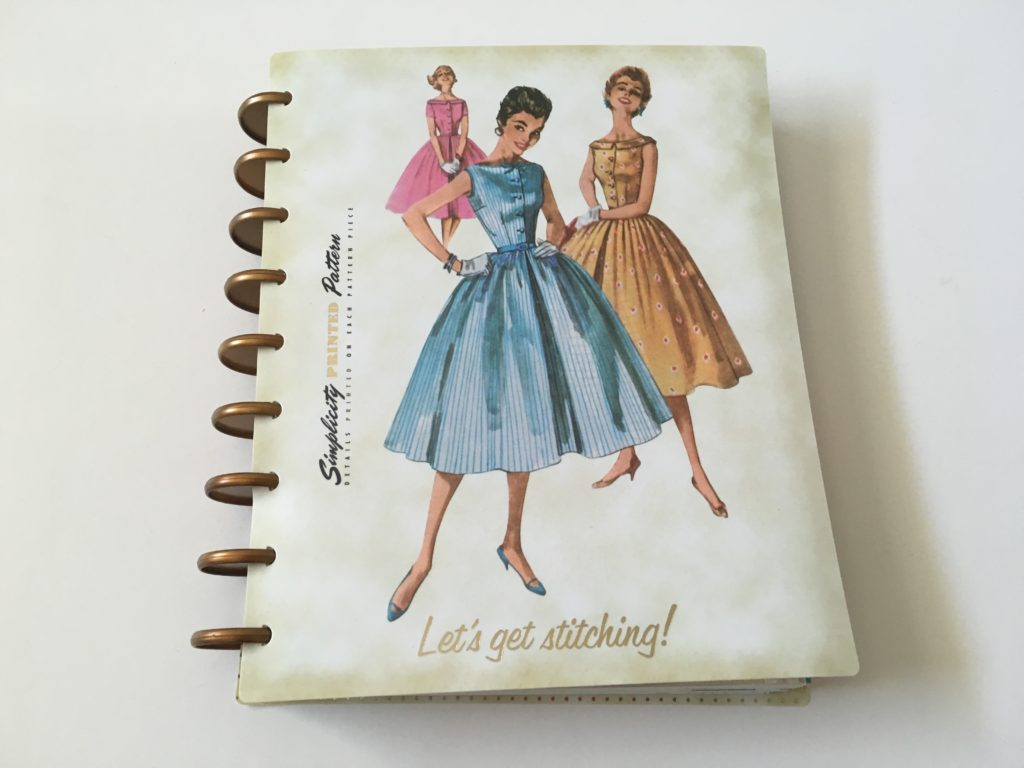 simplicity vintage weekly planner review undated discbound sewing patchwork quilting