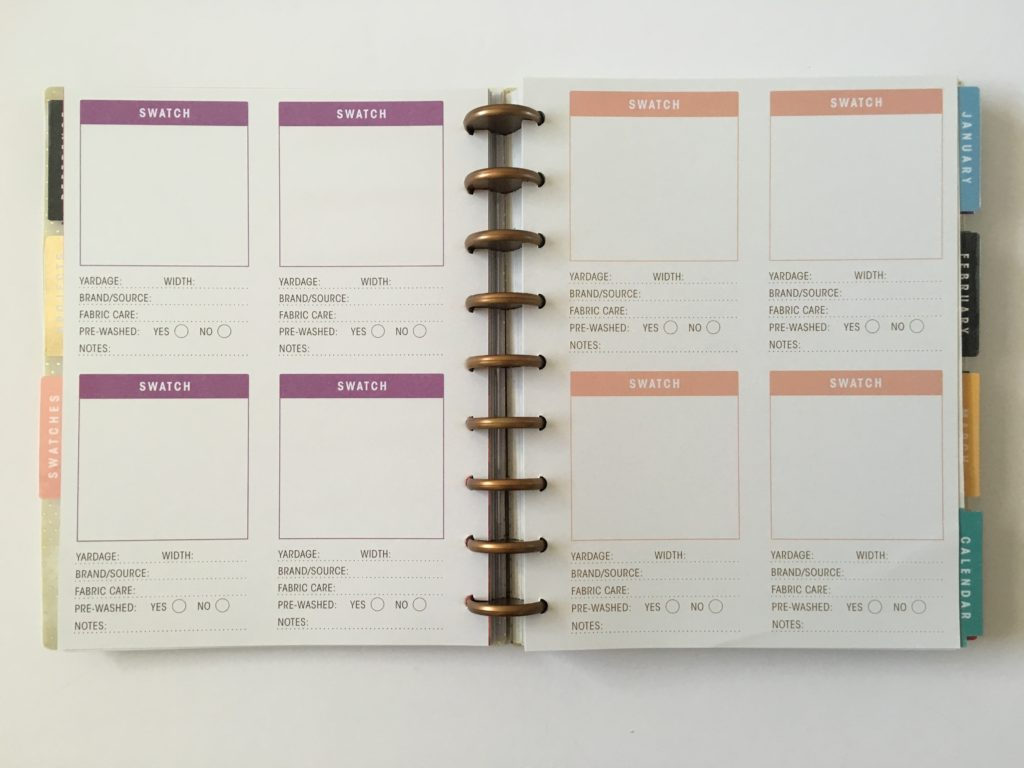 simplicity weekly planner review swatches discbound video flipthrough
