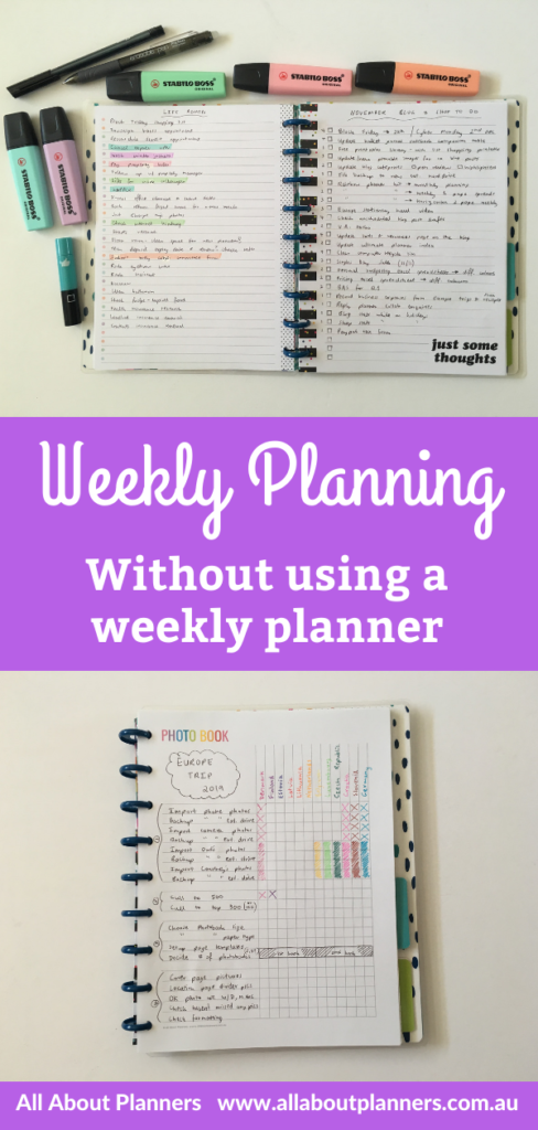 weekly planning without using a weekly planner checklist only simple minimalist quick alternative spread happy planner