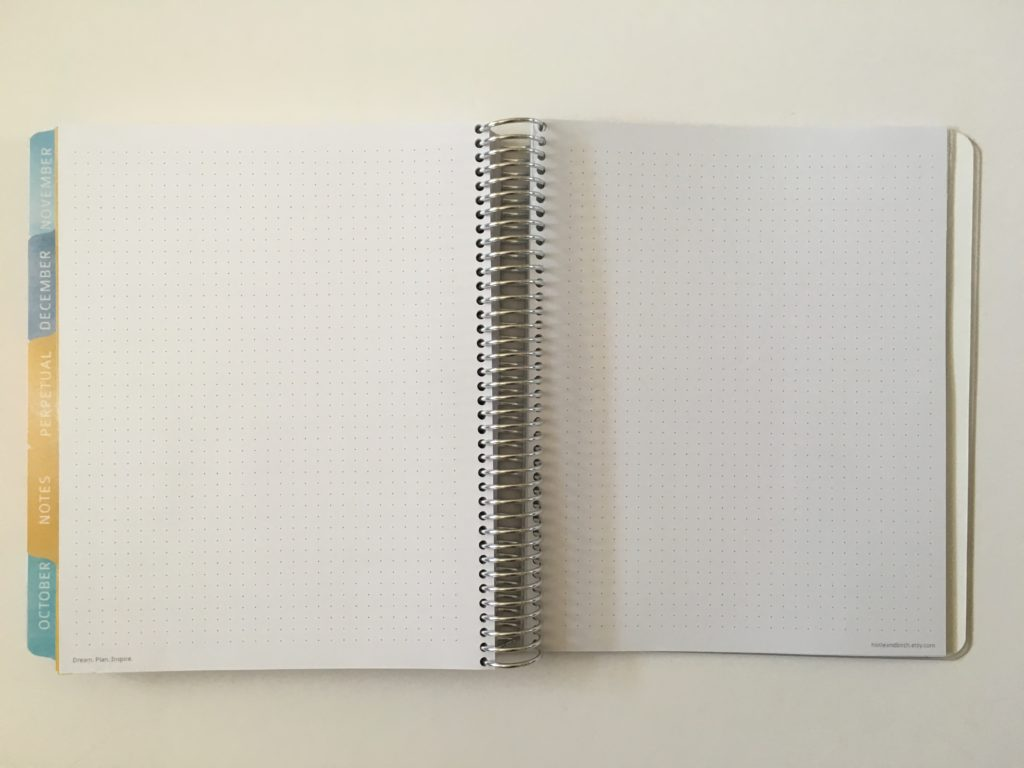 whistle and birch australian notebook review dot grid paper bright white meidum page size coil bound