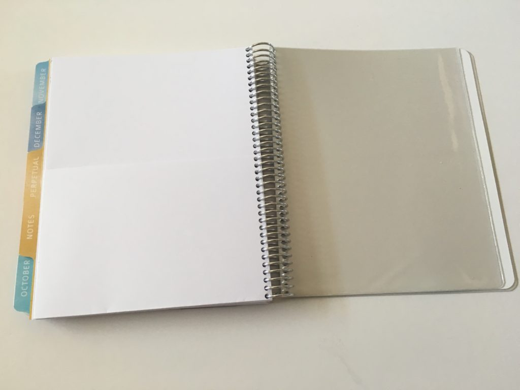 whistle and birch planner review pocket folder and plastic sleeves for sticker storage