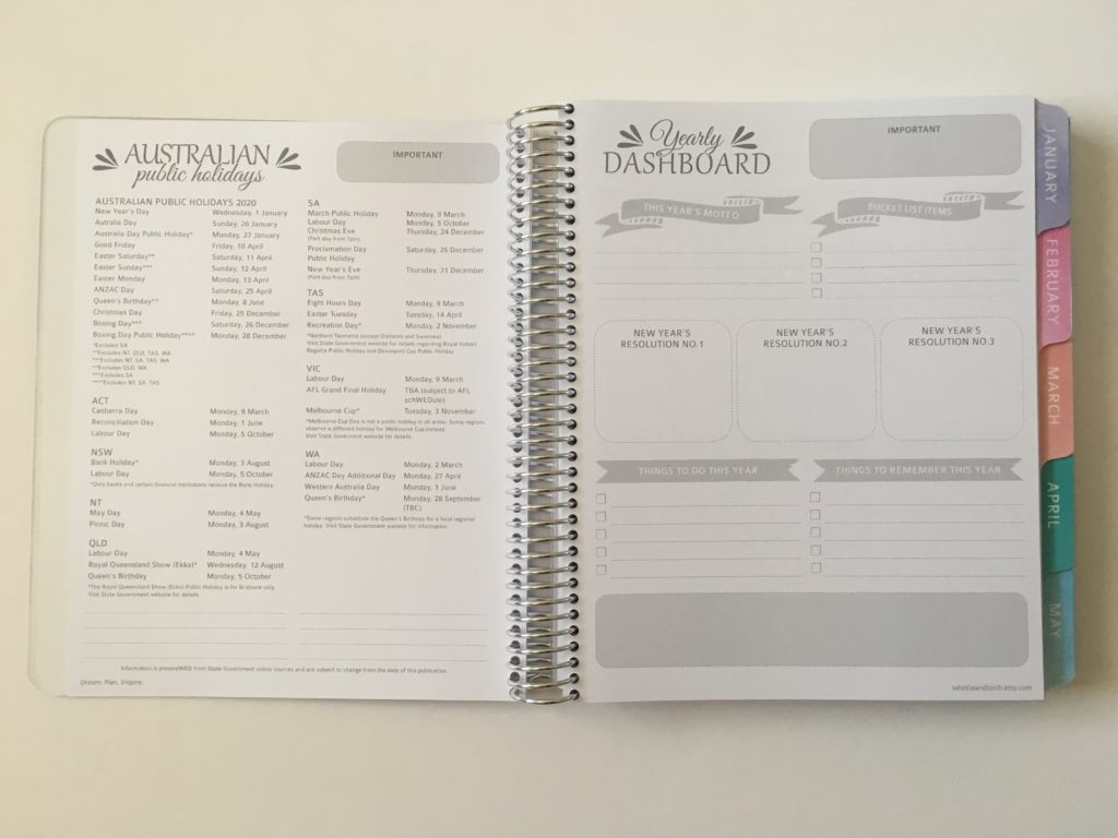 whistle and birch weekly planner review australia