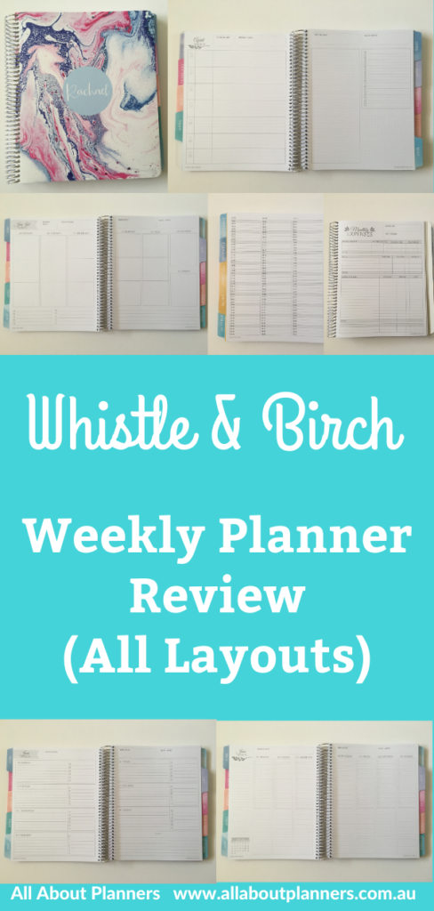 whistle and birch weekly planner teacher student family mom horizontal vertical notes and day monday week start aussie review