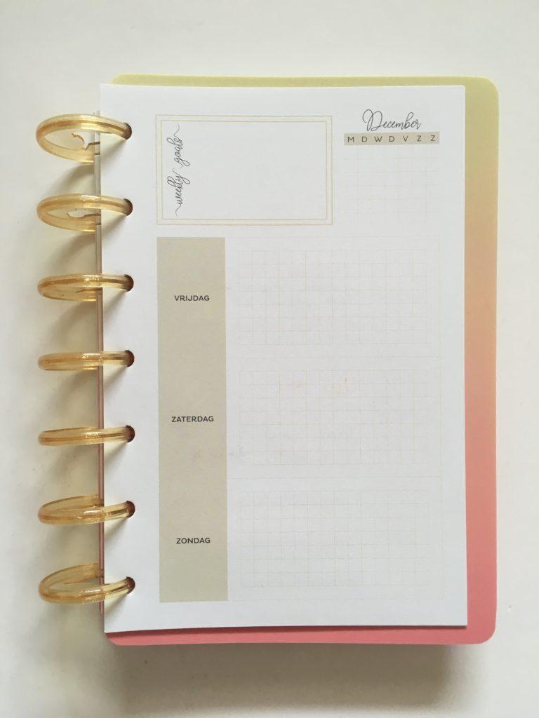 Musboeken discbound weekly planner review pen testing paper quality ghosting bleed through highlighters pens belgium