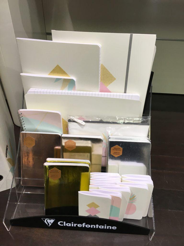 Schreibmayr stationery shop in munich germany planner supplies notebooks agenda diary organizer dot grid clairefontaine