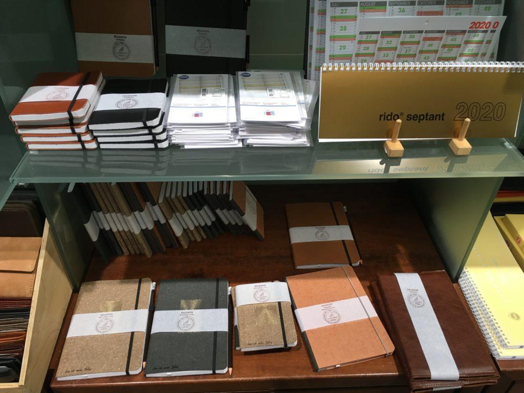 Schreibmayr stationery shop in munich germany planner supplies notebooks agenda diary organizer dot grid kalendar glitter