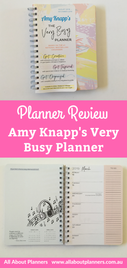amy knapps very busy organizer weekly planner review colorful horizontal 1 page weekly journaling doodles