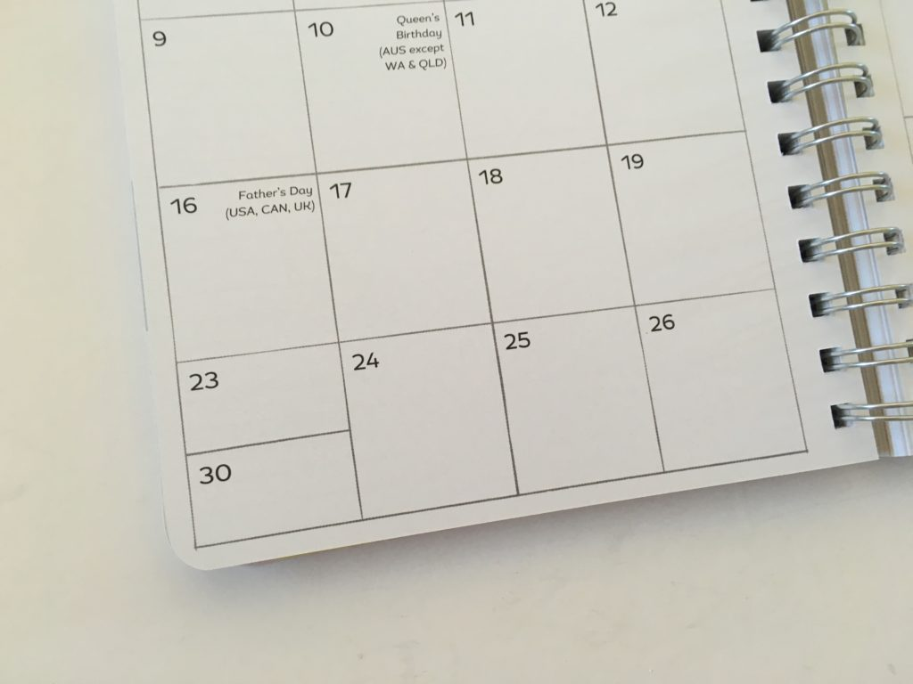 amy knapp's very busy organizer weekly planner review split monthly calendar boxes