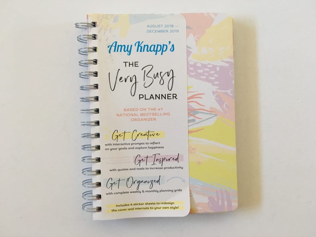 amy knapps very busy planner review horizontal simple spread colorful doodles sketches a5 page size amazon