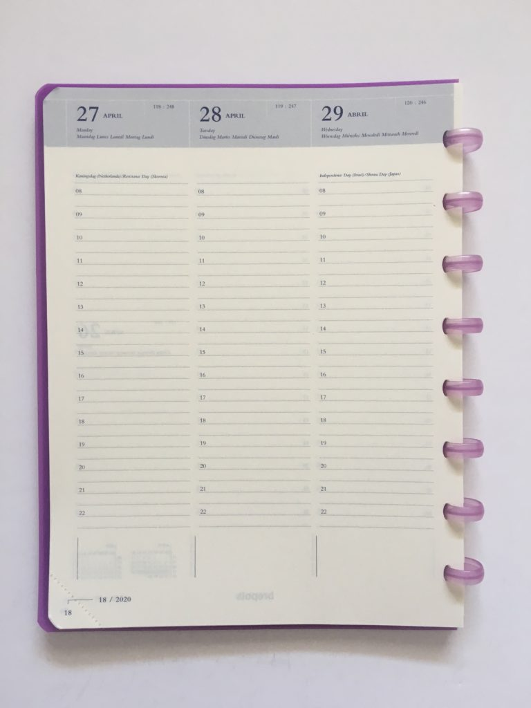 atoma discbound weekly planner review belgium vertical hourly scheduling 8am to 10pm lined