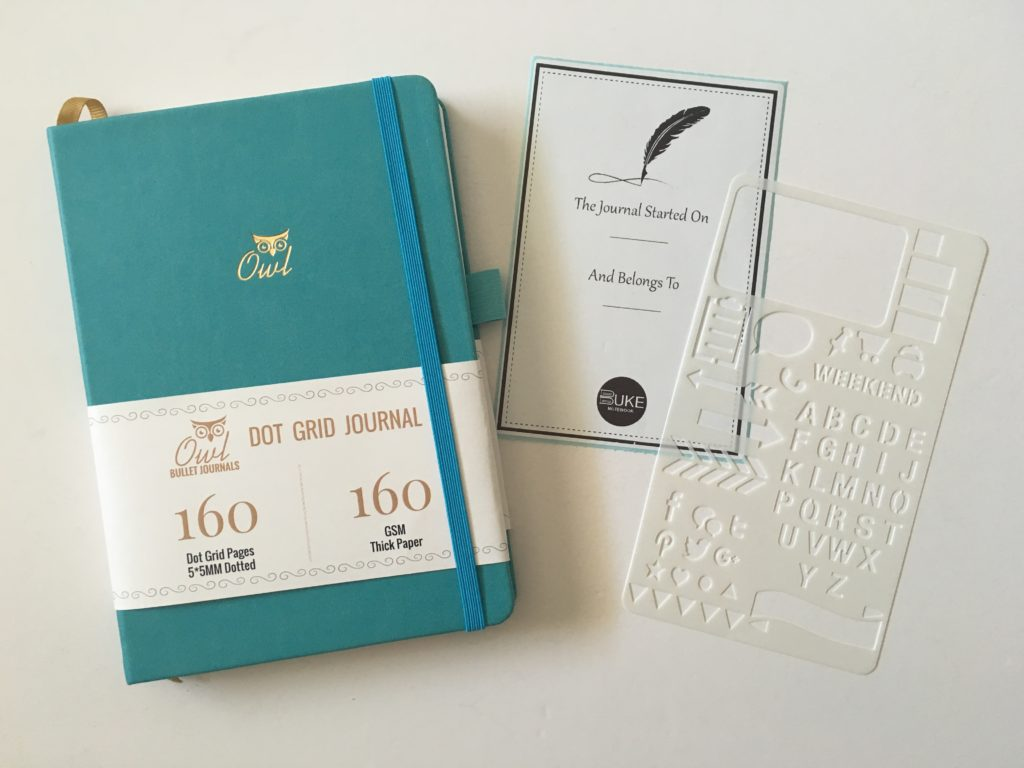 buke stationery dot grid notebook and planner stencil video review