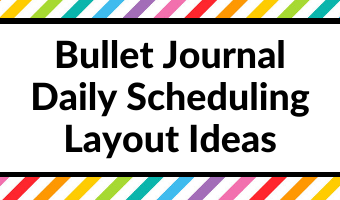 bullet journal daily scheduling layout ideas 1 page per day minimalist