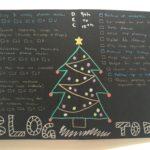 Christmas Tree Weekly Spread on Black Paper