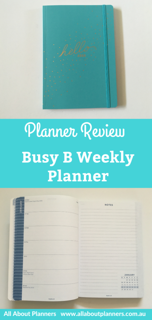 busy b weekly planner review pros and cons video flipthrough uk brand horizontal weekly spread