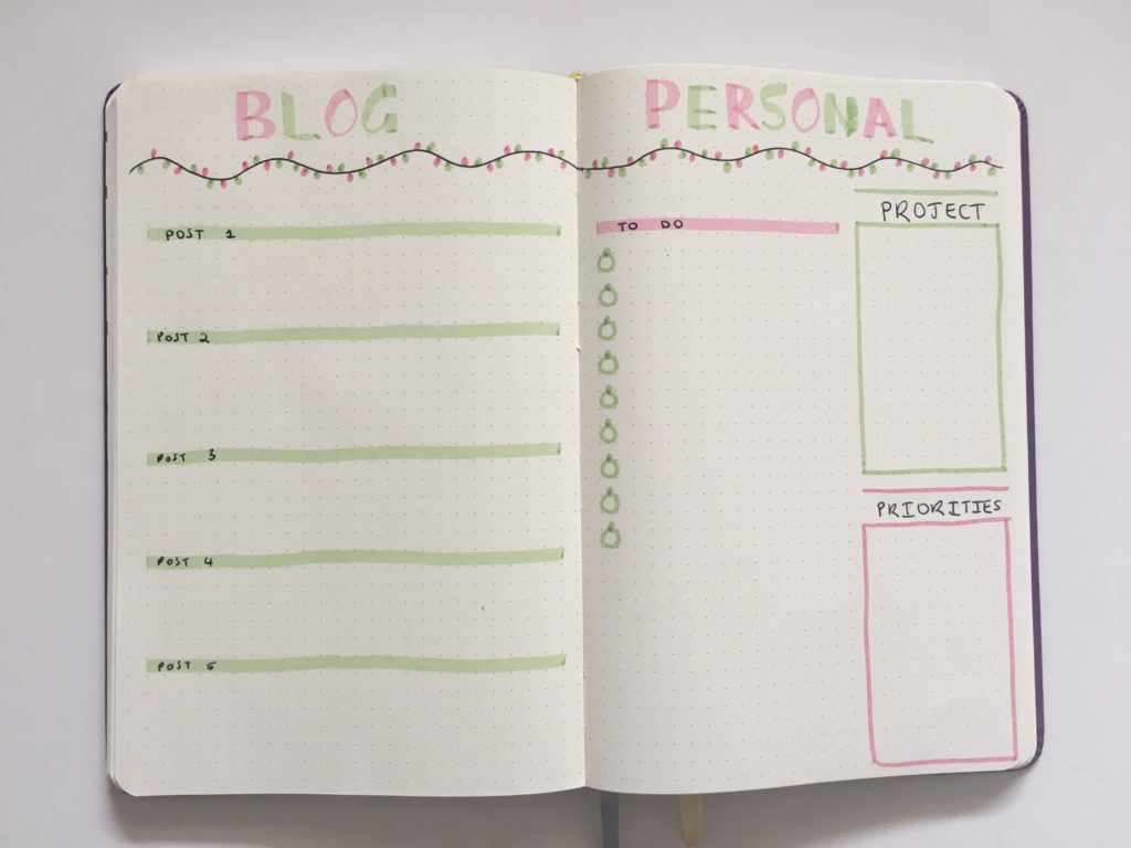 christmas weekly spread blogging personal to do quick easy fairy lights red and green zebra mildliners
