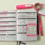 Pink & Black themed spread in the Clever Fox Weekly Planner