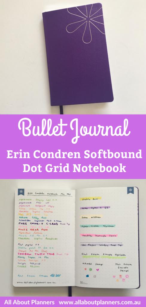 erin condren bullet journal softbound notebook dot grid bright white paper pen testing honest review