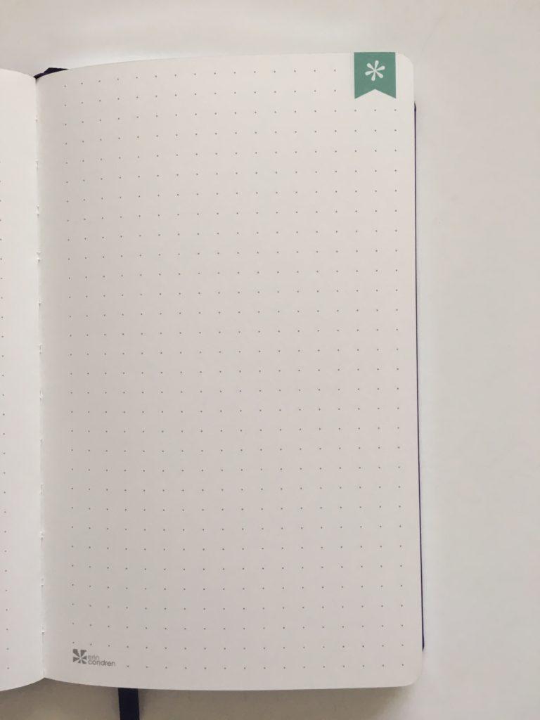 erin condren dot grid notebook softbound bright white paper
