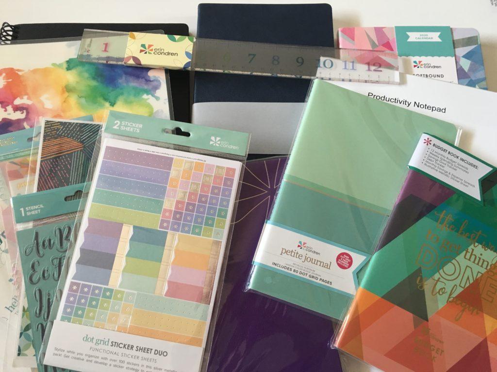 erin condren haul dot grid notebook journal custom personalised notebook focus planner softbound life planner review budget video
