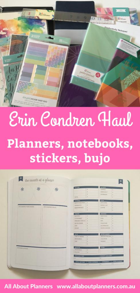 erin condren planner haul notebooks dot grid budget life planner softbound edition traveller notebook