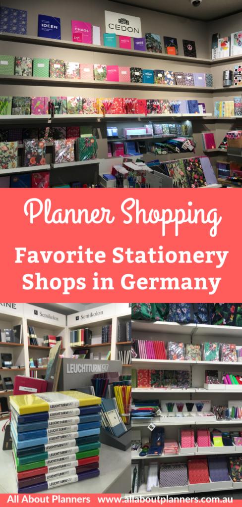favorite planner supplies shops in germany frankfurt munich pens washi tape planners notebooks bullet journal haul european